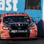 HRT get a little too close to the wall at the 2016 Gold Coast 600