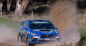 Molly Taylor and Bill Hayes in action at Rally SA