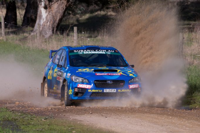 Molly Taylor and Bill Hayes in action at Rally SA