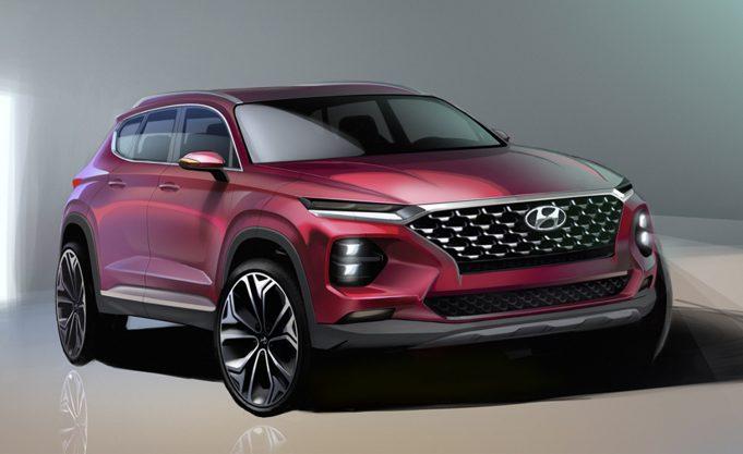 2019 Hyundai Santa Fe (render)