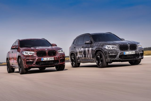 Prototypes of the BMW X3 M and the BMW X4 M Models