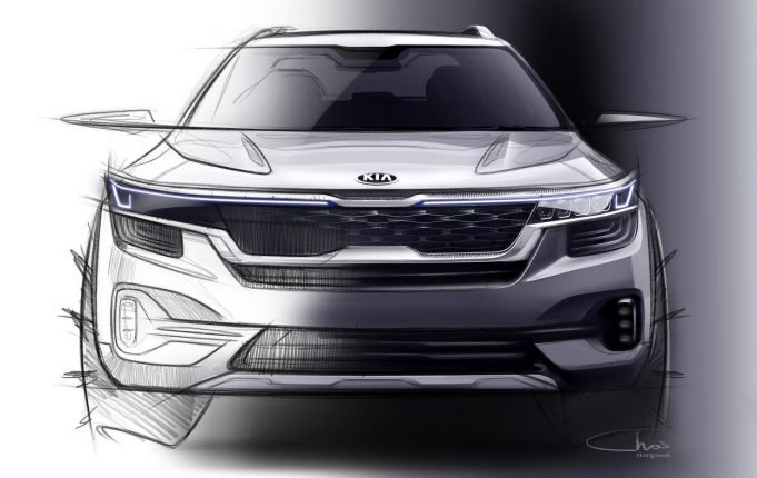 front of new small SUV from Kia