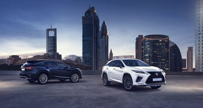 Lexus RX: 350 F Sport (left) and 350L Luxury