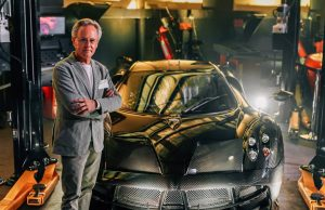 Horacio Pagani with the Pagani Huayra