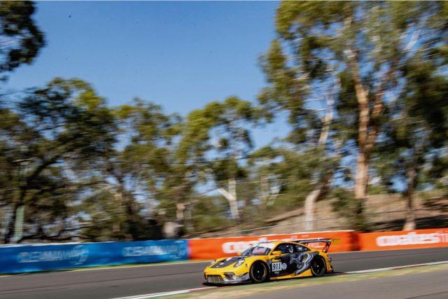 Matt Campbell has taken pole position for the Bathurst 12 Hour