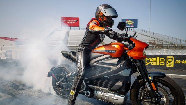 2020 Harley-Davidson LiveWire drag bike