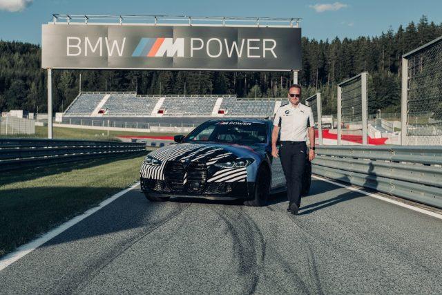 BMW M CEO Markus Flasch with 2021 BMW M4
