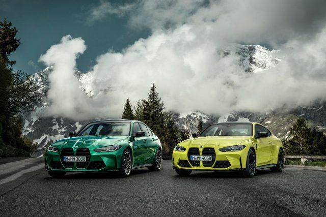 2021 BMW M3 sedan and M4 coupe