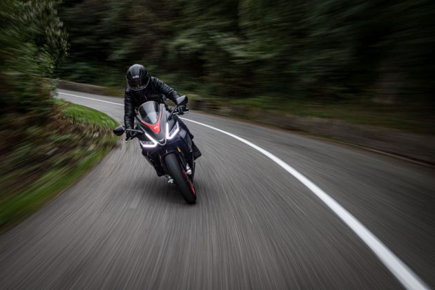 New Aprilia RS on the road