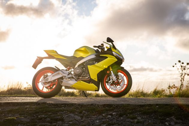 New Aprilia RS in the sun