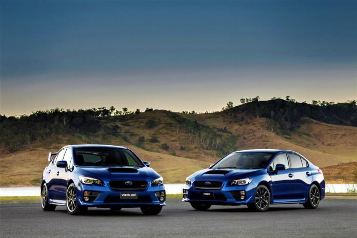 2015 WRX STI Premium (left) WRX Premium (right).