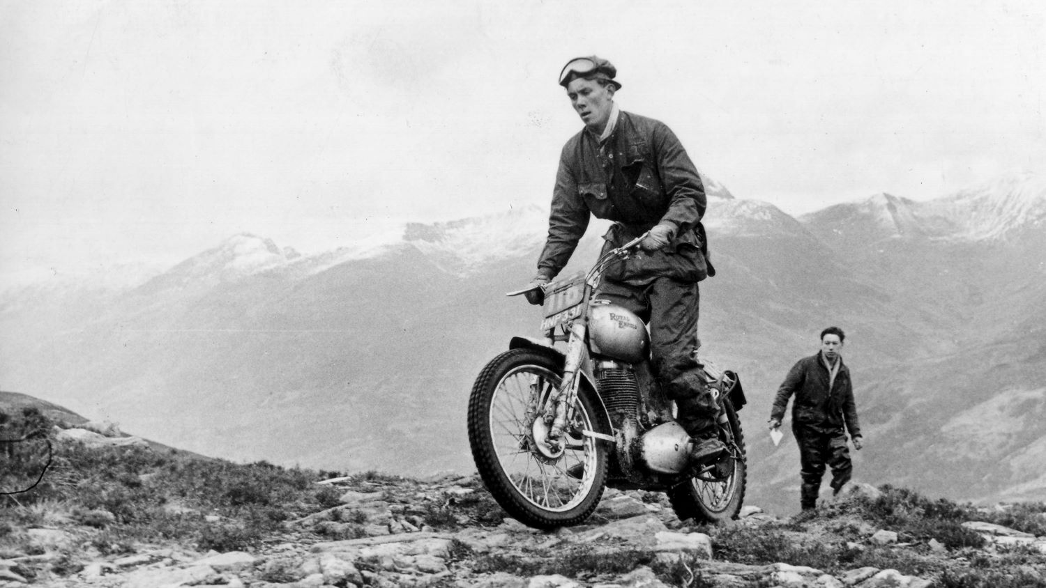 Johnny Brittain In the 1952 Scottish Six Days Trial