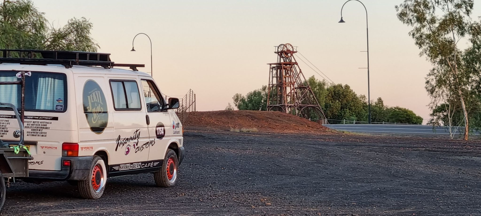 On route to the salt flats of Lake Gairdner in South Australia