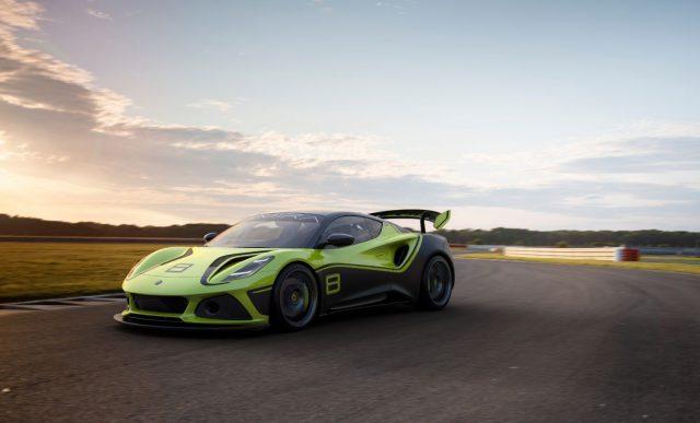 Lotus Emira GT4 race car